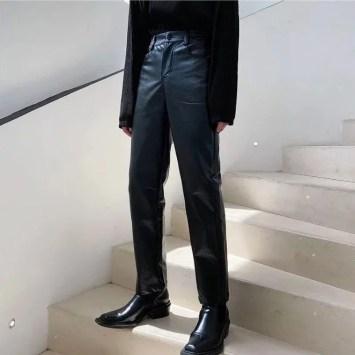 VEAZ Faux Leather Slim Fit Pants e1623400109246