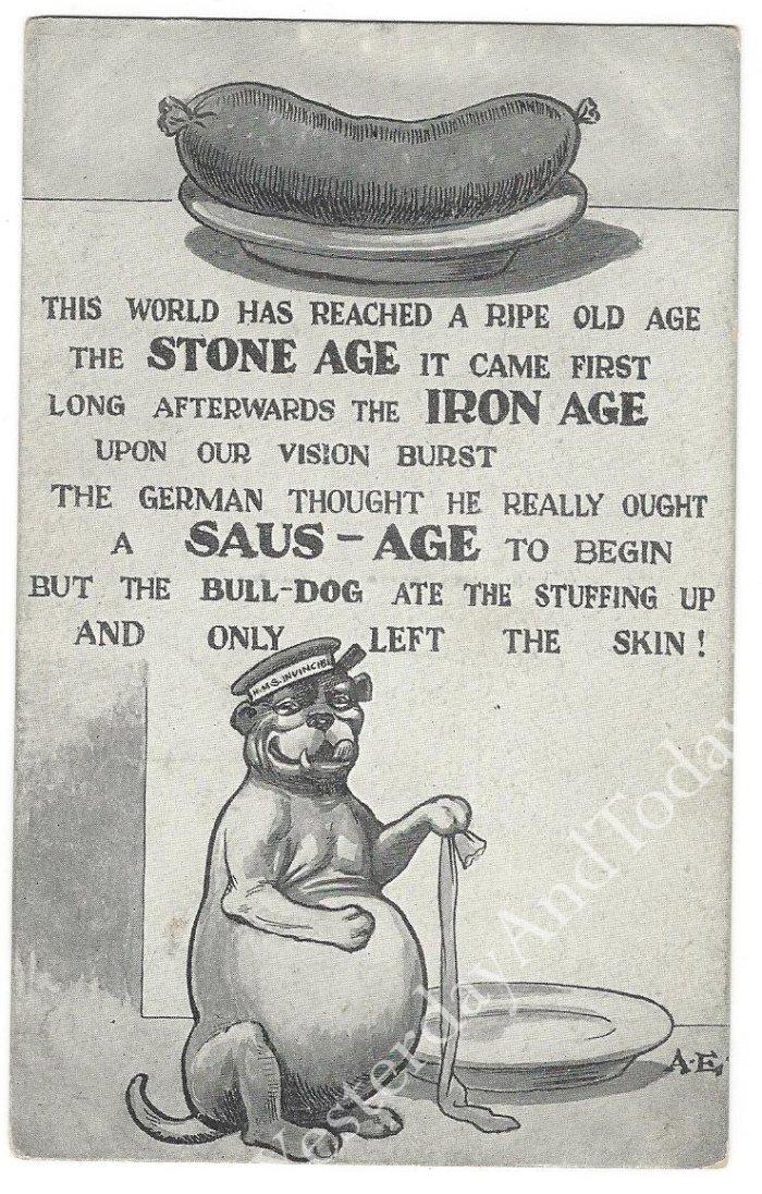 WW1 Comic Postcard