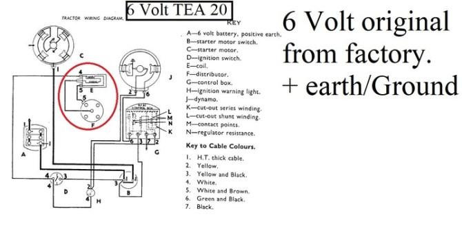 12 volt wiring tea20  yesterday's tractors
