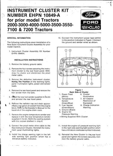 ford 2000 tractor dash wiring  deh 1300mp wire diagram