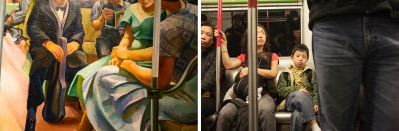 Strangely Attracted 8, L-Detail, Subway, Public Works of Art Project NY 1934 by Lily Furodi, Smithsonian American Art Museum -R- Hong Kong metro