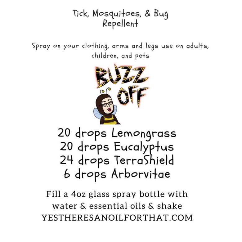 Ticks, mosquitoes, bugs, TerraShield, lemongrass, eucalyptus