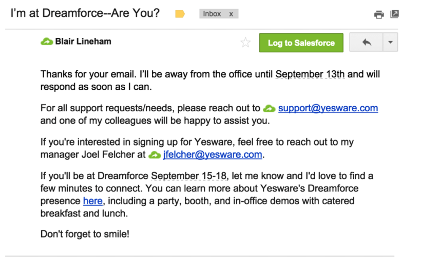 Out Of Office Message Sample Vacation