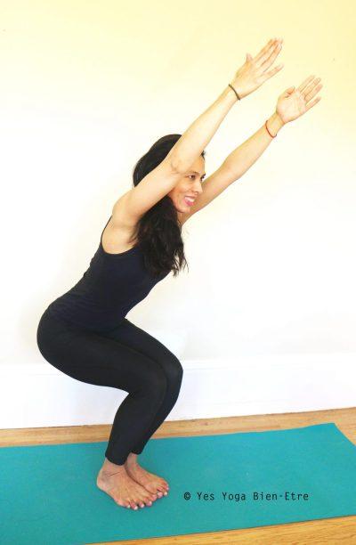 Utkatasana Posture Chaise Posture Puissante Yes Yoga Bien Etre
