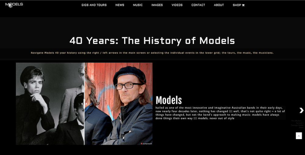 History of Models
