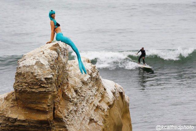 mermaid at Sunset Cliffs