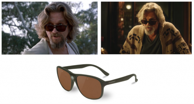 the dude's sunglasses