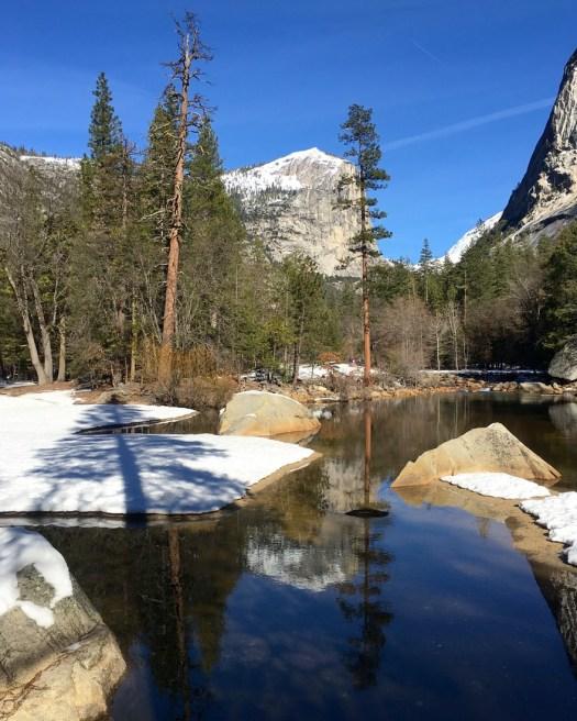 Yosemite Mirror Lake Reflection JAN2016