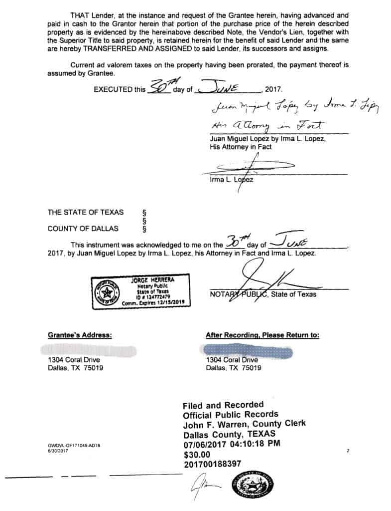 Reporte Mito Financial Warranty Deed
