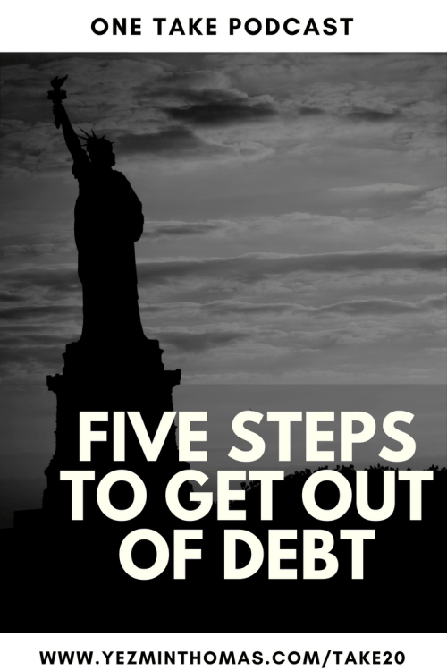 5 steps to get out of debt pinterest