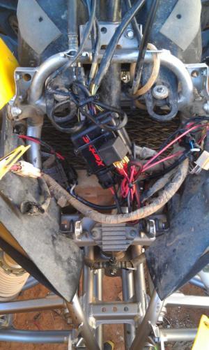 HID installation  Yamaha YFZ450 Forum : YFZ450, YFZ450R