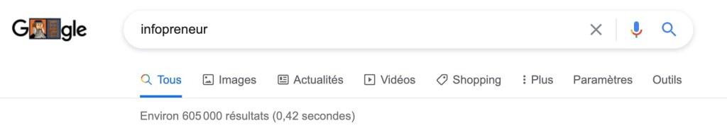 resultat de recherche google