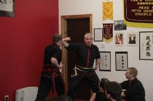 Si-Gung Bruce Clark instructs at the seminar in Aberdeen