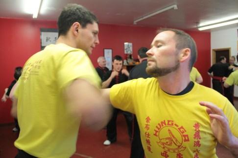 Inverness student Innes Munro practising hard