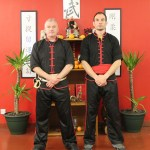 Sifu Bruce Clark with Sifu Simon Hepple