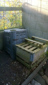 The compost and leaf bins at YHGInverness