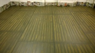 floorboard detailing being added.
