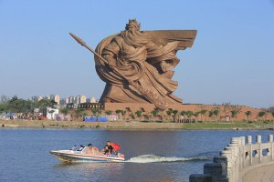 A giant statue of Guan Yu