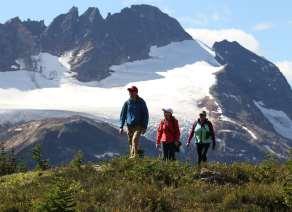 Wiegele heli-tours hiking mountains