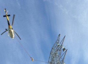 Aerial construction helicopter services
