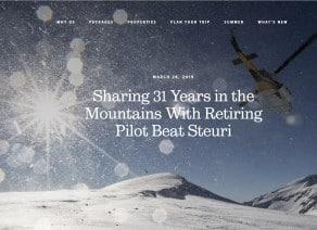 Article profile Beat Steuri heliski pilot