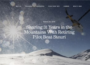 Article profile Beat Steuri heliski pilot