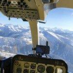 YHL heli-skiing pilot view
