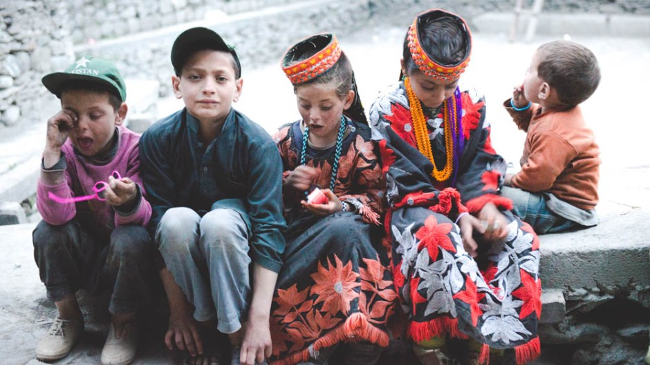 Kalash women look gorgeous for their bright outfits