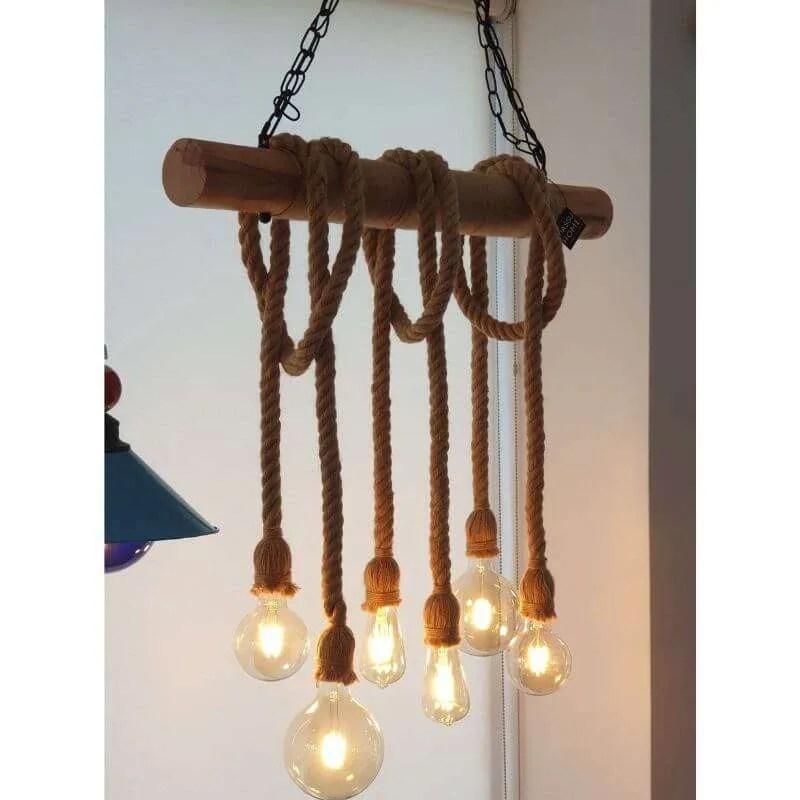 solid wood rustic light