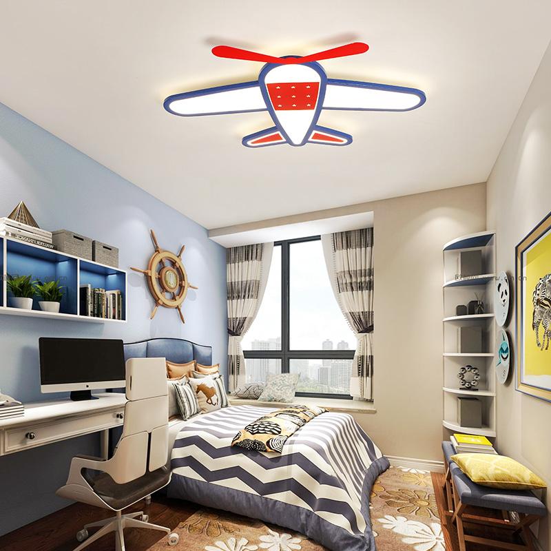 Modern Style Cool Kids Jet Light Flush Mount Ceiling For