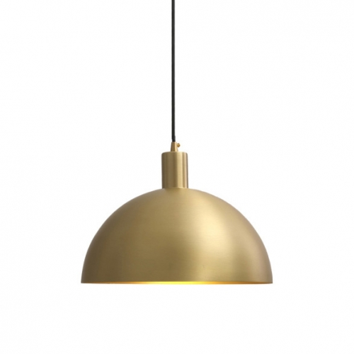 mid century modern 11 4 5 brass dome pendant light for kitchen island and dining room