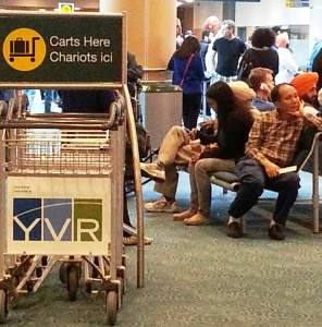 Arrival Vancouver airport dual language