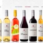 Bottles of Domain du Ridge wines
