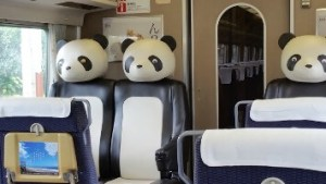Special panda seats in carriage