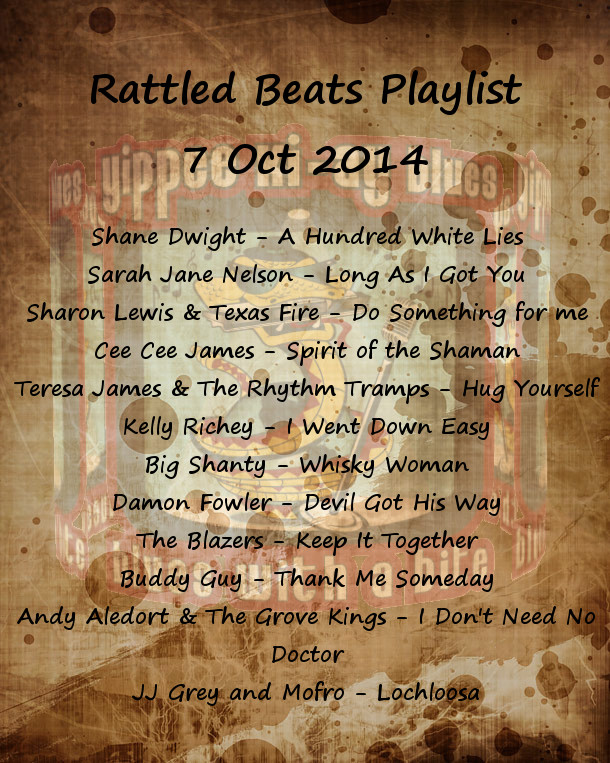 Rattled Beats Show Playlist 7 Oct 2014