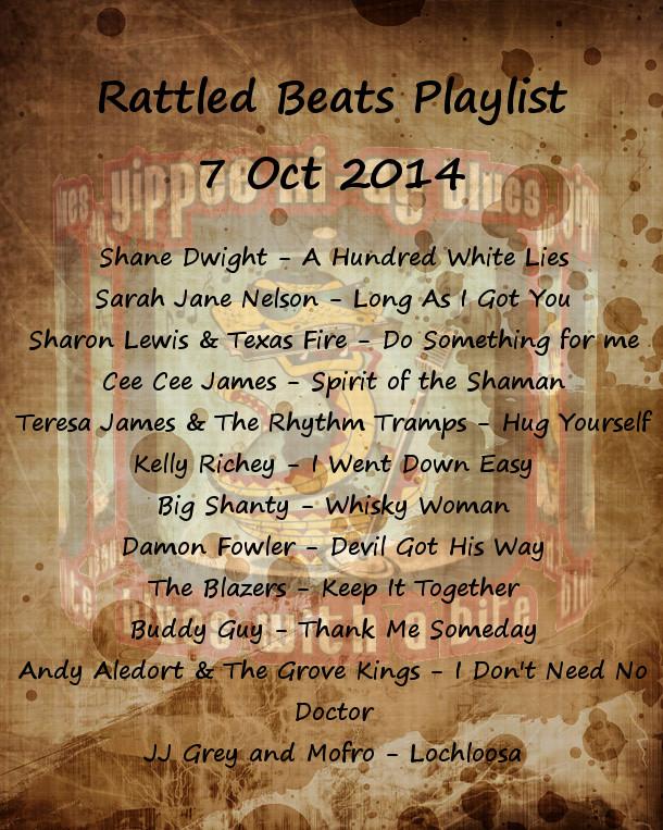Rattled Beats Show Playlist 7 Oct 2014