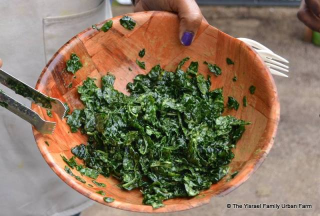 Raw Kale with Spicy Mustard Dressing