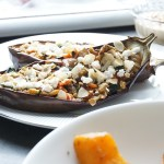 Gevulde aubergine recept - clean eating