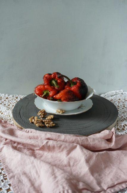 muhammara geblakerde paprika's