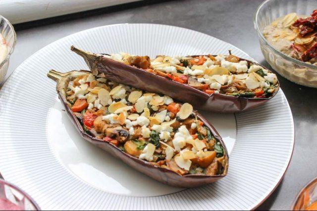 Gevulde aubergine chefmate