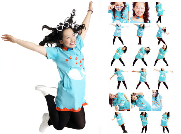 Yiying Lu Fail whale dress @yiyinglu
