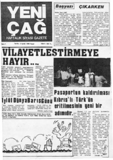 Yeniçağ Gazetesinihaftalık olarak yayın hayatına başladı