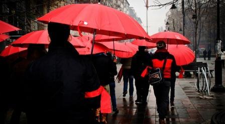 Kırmızı şemsiye seks işçilerinin mücadelesinin sembolü