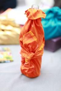furoshiki bouteille orange