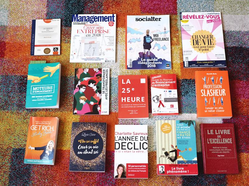 ~ Lectures du moment sur l'entrepreneuriat et l'organisation personnelle, mes coups de cœur ! ~