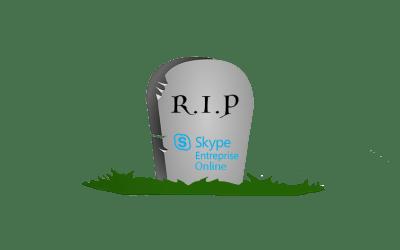 Microsoft annonce la fin de Skype Entreprise Online