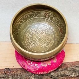 Taça Tibetana nova nó infinito