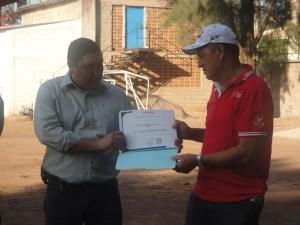 Diploma de Reconocimiento al Profesor Cesar Rosales