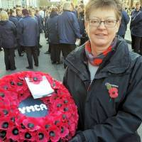 Ann joins London parade to remember YMCA's wartime effort