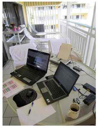 Projektarbejde på altan
